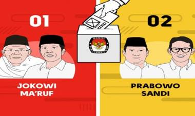 Fix! Pilpres 2019 : Jokowi-Ma'ruf Nomor Urut 1, Prabowo-Sandi Nomor 2