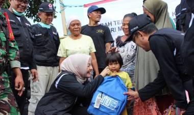 Tak Lupakan Lombok, Relawan PMI Serang Bawa Ribuan Paket Bantuan