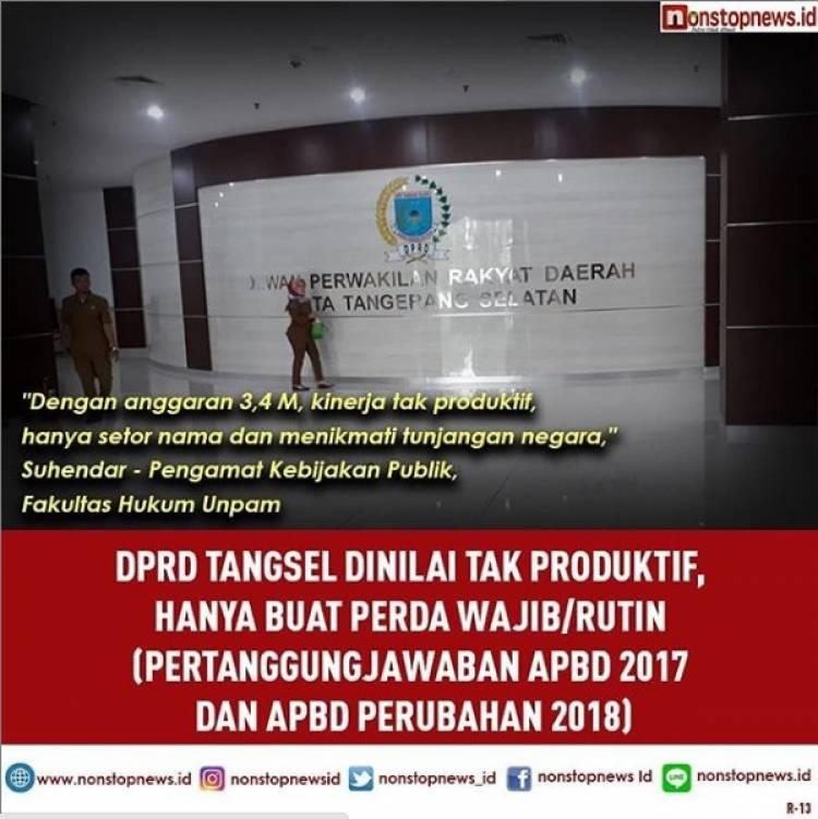 Raperda Inisiatif Minim, Pengamat : DPRD Tangsel Kerjanya Kurang Maksimal