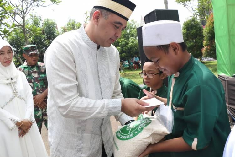 Jelang Ramadhan, Zaki 'Munggahan' Bersama 1000 Anak Yatim