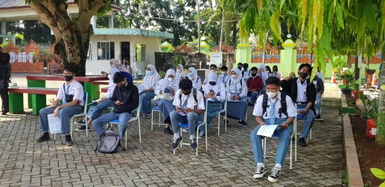 100 Perses Pelajar Telah Divaksinasi, SMAN 6 Tangsel Siap Laksanakan PTM